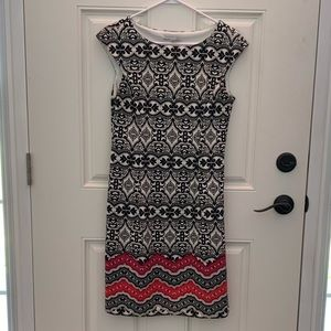 Maggy London ~ Sheath Dress ~ Cap Sleeves ~ Size 8